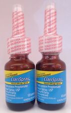 2 ClariSpray Nasal Allergy Spray, Fluticasone Propionate 50MCG, Exp 12/17