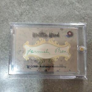 Ty Cobb 2020 Historic Written Word Authentic BGS Handwriting Card