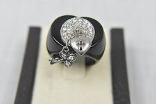 HEART SHAPED FASHION RING WITH CUBIC ZIRCONIA STONES WITH CHARMS