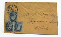 c1861 Junction City Kansas #24x3 cover to IL [H.676]
