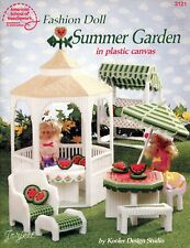 Fashion Doll Summer Garden ~ fits Barbie doll plastic canvas pattern booklet NEW