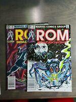 Rom vol-1 ~ 2 book lot #29,30  Marvel Comics ~ Bronze Age (1982)