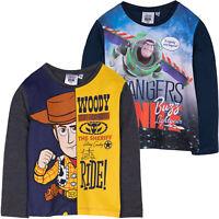 Disney Toy Story 4 Boys Long Sleeve 100% Cotton Top T Shirt Sheriff Buzz 2-8 yrs