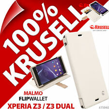 Krusell Malmo FlipWallet Case for Sony Xperia Z3 /Z3 Dual Wallet Stand Folio