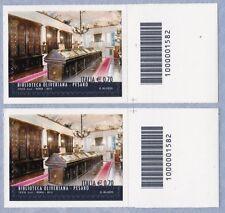 ITALIA Biblioteca Oliveriana Pesaro Anno 2014 Codice a Barre DX-SX