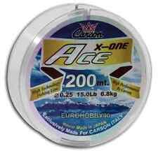 filo ace da pesca 0.20mm 200mt per mulinello mare lago trota spinning monofilo
