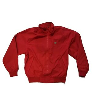 North Sails Red Bomber Jacket SMALL  Sport Vintage 90s USA