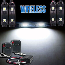 LED 4X4/OFF ROAD/JEEP Under Body Rock Lights Bright White w/Wireless Controller