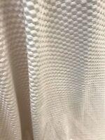 Cream silk soft chenille velvet feel textured crafts remnant fabric material