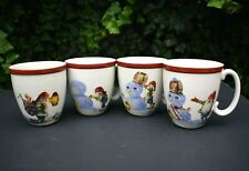 "Williams-Sonoma Nordic Elf 4-Mug Set Series ""Follow the Journey..."" Excellent A+"
