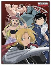 Fullmetal Alchemist Group Microfiber Fleece Blanket Anime Manga New
