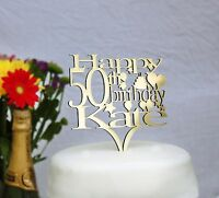 Personalised Birthday Cake Topper with any AGE and NAME-18th,21st,30th,40th,50th