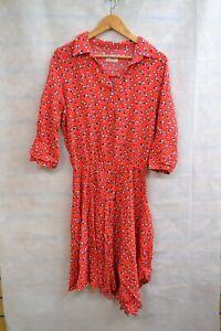 HUSH RED FLORAL PRINT BODYCON DRESS SIZE - 3 ##MANCL60
