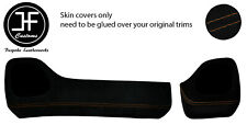 BROWN STITCH TWO PIECE DASH KIT TRIM SUEDE COVERS FOR TOYOTA AYGO 2014-2019