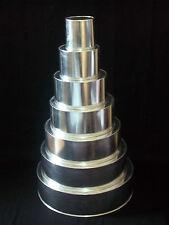 """Round Cake Baking Tins - 4"""" Deep - Individual Tins - Size 5"""""""