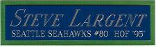 STEVE LARGENT SEAHAWKS NAMEPLATE AUTOGRAPHED Signed Football-HELMET-JERSEY-PHOTO