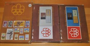 Weeda Canada TC8-10 Set of 1976 Olympic Stamp Souvenir Cases in boxes CV $100