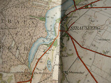 Landkarte Blatt 8 Strausberg Berlin ca 1914 Buckow Landesaufnahme Vierfarbdruck