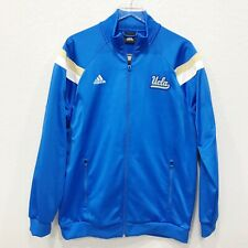 Adidas UCLA Mens Full Zip Active Track Jacket Blue High Neck Polyester XXL 54