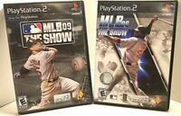 LOT OF 2 (PS2) Video Game MLB 09 THE SHOW & MLB 06 THE SHOW PlayStation 2