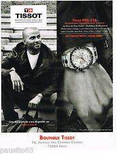 PUBLICITE ADVERTISING 065  2011  TISSOT montre PRS 516  TONY PARKER