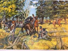 """Vintage 1953 THE ROAD TO FALLEN TIMBERS , 24"""" x 21"""" Poster US ARMY"""