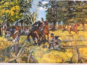 "Vintage 1953 THE ROAD TO FALLEN TIMBERS , 24"" x 21"" Poster US ARMY"
