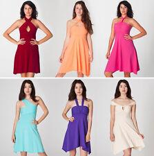 American Apparel Convertible Multi-Way purple skater Dress/skirt size XS *new*
