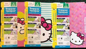 Trapper Keeper Folders Hello Kitty *Snapper Trapper* 2-Pocket Set of 9