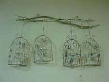 Metal Portavelas soportes Luces de Té Estilo Rústico 50cm Jaula Para Pájaros