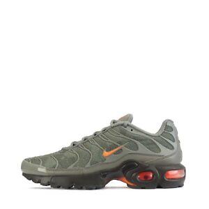 Nike Air Max Plus SE TN1 Tuned Camo Junior Trainers Shoes Dark Stucco, Orange