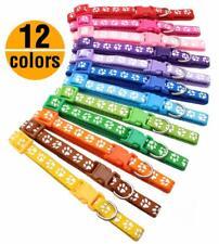 12 PCS Lot Dog Collars Pet Cat Collar With Bell Necklace Buckle Wholesale XXS XS