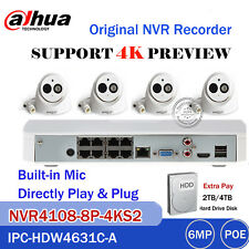 Dahua 4K 8CH KIT NVR4108-8P-4KS2+IPC-HDW4631C-A 6MP Dome Camera CCTV Home System
