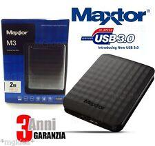 MAXTOR M3 HARD DISK ESTERNO AUTOALIMENTATO 2.5'' 2 TB 2000 GB USB 3.0 2.0 MEMORY