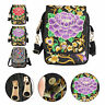 Cell Phone Handbag Retro Embroider Crossbody Purse Wallet Canvas For Girls Women