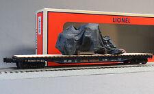 LIONEL ONTARIO NORTHLAND SCALE PS-4 FLATCAR W TARPED LOAD o ga train 6-82702