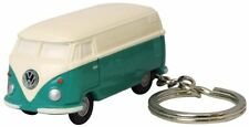 Dreams Volkswagen Type II Bus Key Chain Light, Green and Ivory / Cute Key Tag