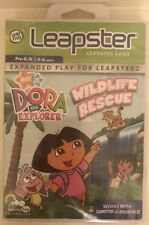 NEW! Leap Frog Leapster Dora The Explorer Wildlife Rescue - 4-6 Years - Sealed