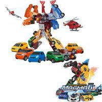 Transformation Tobot Giga 7 In 1 Cars Merge Athlon Magma 6 Robot Kids Toys Model