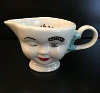 Baileys Irish Cream Yum 1996 Winking Lady Creamer Cup Ceramic Pitcher Vintage