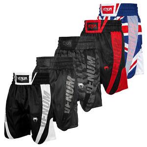 Venum Herren Boxerhose Elite Schwarz Blau XS-2XL Boxen Sporthose Abverkauf SALE