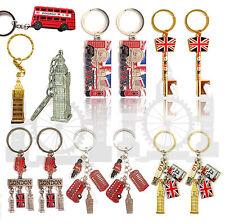 BRITISH KEYRINGS, UJ KEY - LONDON ENGLAND SOUVENIRS UNION JACK KEYCHAINS SET 13