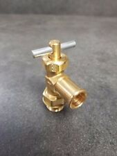 NEW Parker Brass Truck Valve #8 (1/2 inch) Male Oring Boss with 5/8 Hose Barb 90