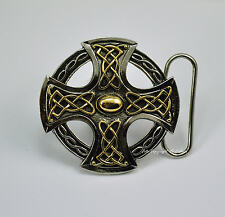 Edad Media Celta Hebilla De Cinturón Céltico Diseño Hebilla chapado en oro 034