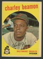 1959 Topps #192 Charley Beamon EX/EX+ RC Rookie Orioles 30243