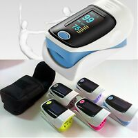 Pulse Oximeter Finger Tip Pulse Blood Oxygen SpO2 PR Monitor OLED Alarm setting