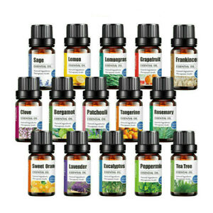 10ml 100% Natural Pure Essential Oil Fragrances Aroma Aromatherapy Essential Oil