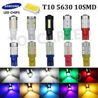Lot T10 5630 10-SMD LED Side Wedge SAMSUNG License Map Backup Reverse Turn Light