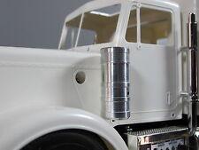 Pair Aluminum Air Cleaner Intake Block for Tamiya 1/14 Semi King Hauler Truck