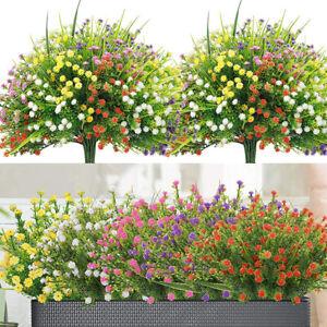 Artificial Flowers Fake Leaf Plastic Plants Wedding Garden Bouquet Home Decor